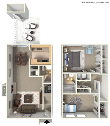 Two Bedroom - Townhome